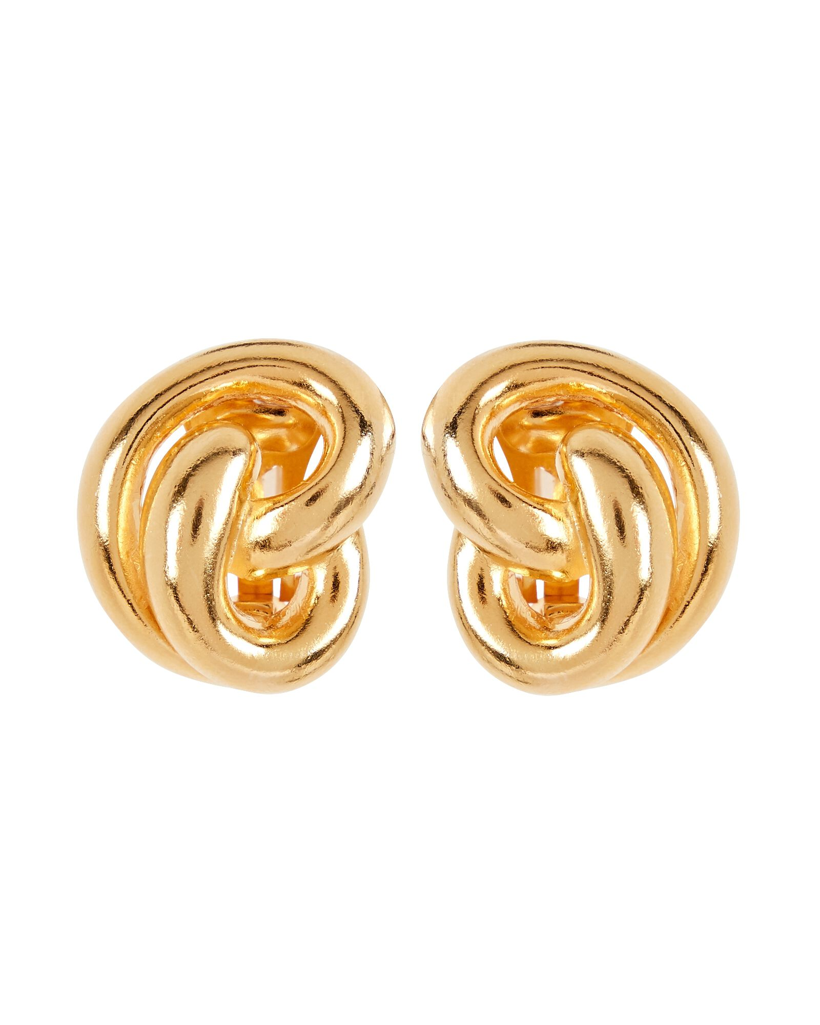 Oval Knotted Stud Earrings, GOLD, hi-res