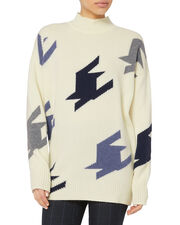 Houndstooth Cashmere Sweater, MULTI, hi-res