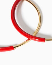 Lola Red Large Hoops, RED, hi-res