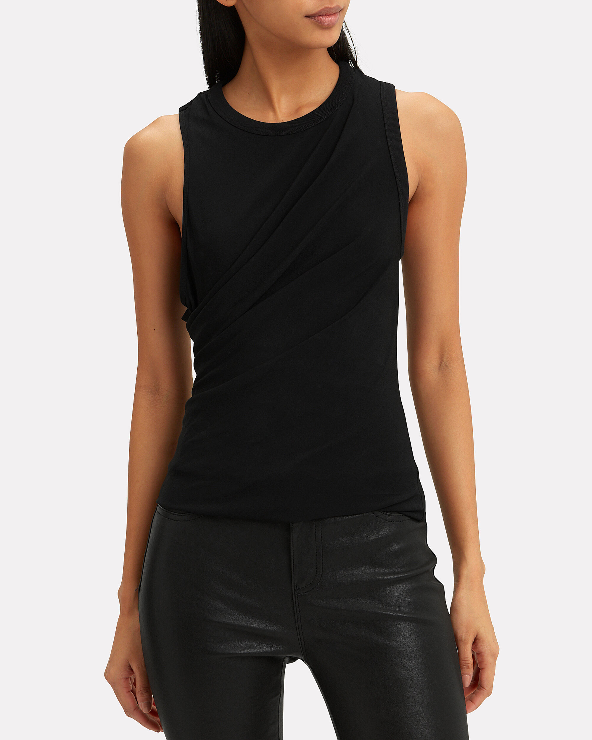 Twisted Black Tank, BLACK, hi-res
