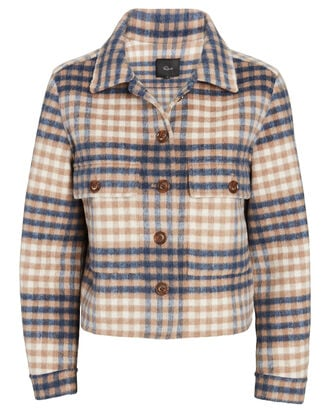 Steffi Plaid Flannel Jacket, MULTI, hi-res