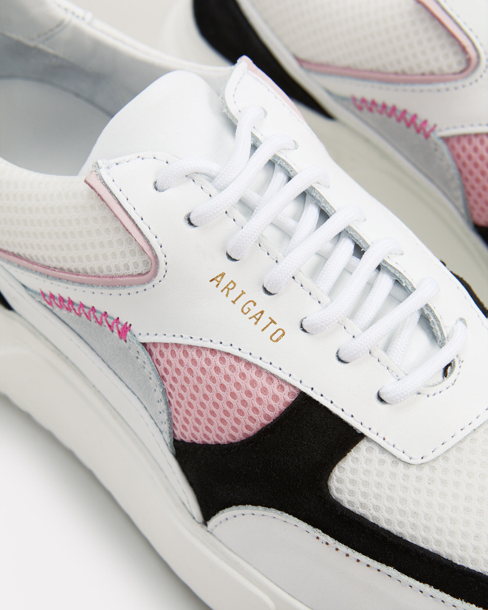 Genesis Colorblock Running Sneakers, WHITE, hi-res