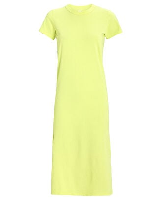 Leah Jersey T-Shirt Dress, GREEN-LT, hi-res