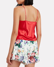 Silk Cowl Neck Camisole, RED, hi-res