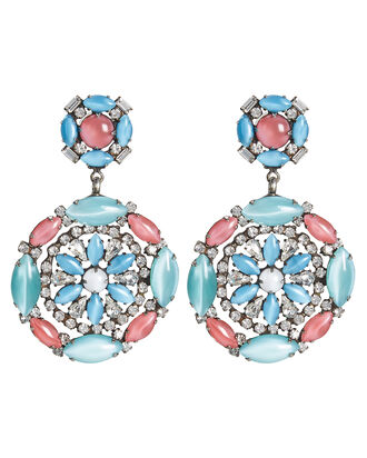Miranda Stone and Crystal Earrings, BLUE/PINK, hi-res