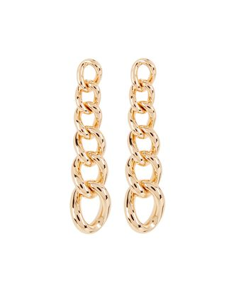 Rodeo Chain Link Drop Earrings, GOLD, hi-res