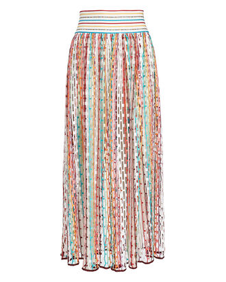 Open Knit Maxi Skirt, RAINBOW DOT, hi-res
