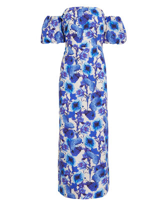 Adelita Venus Shell Dress, BLUE/FLORAL, hi-res