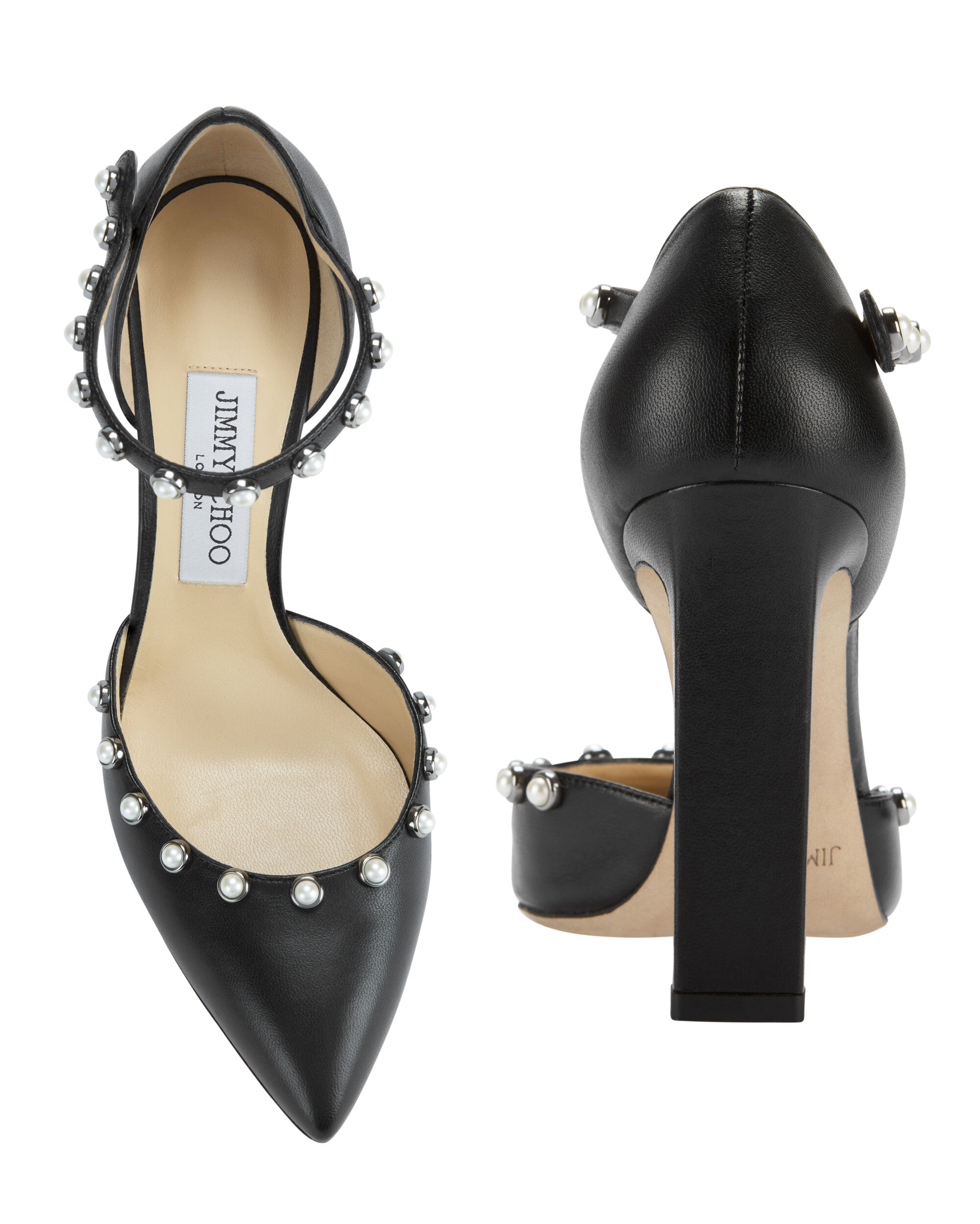 Leema Pearl-Studded Pumps, BLACK, hi-res