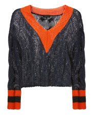 Emma Cropped Sweater, NAVY, hi-res