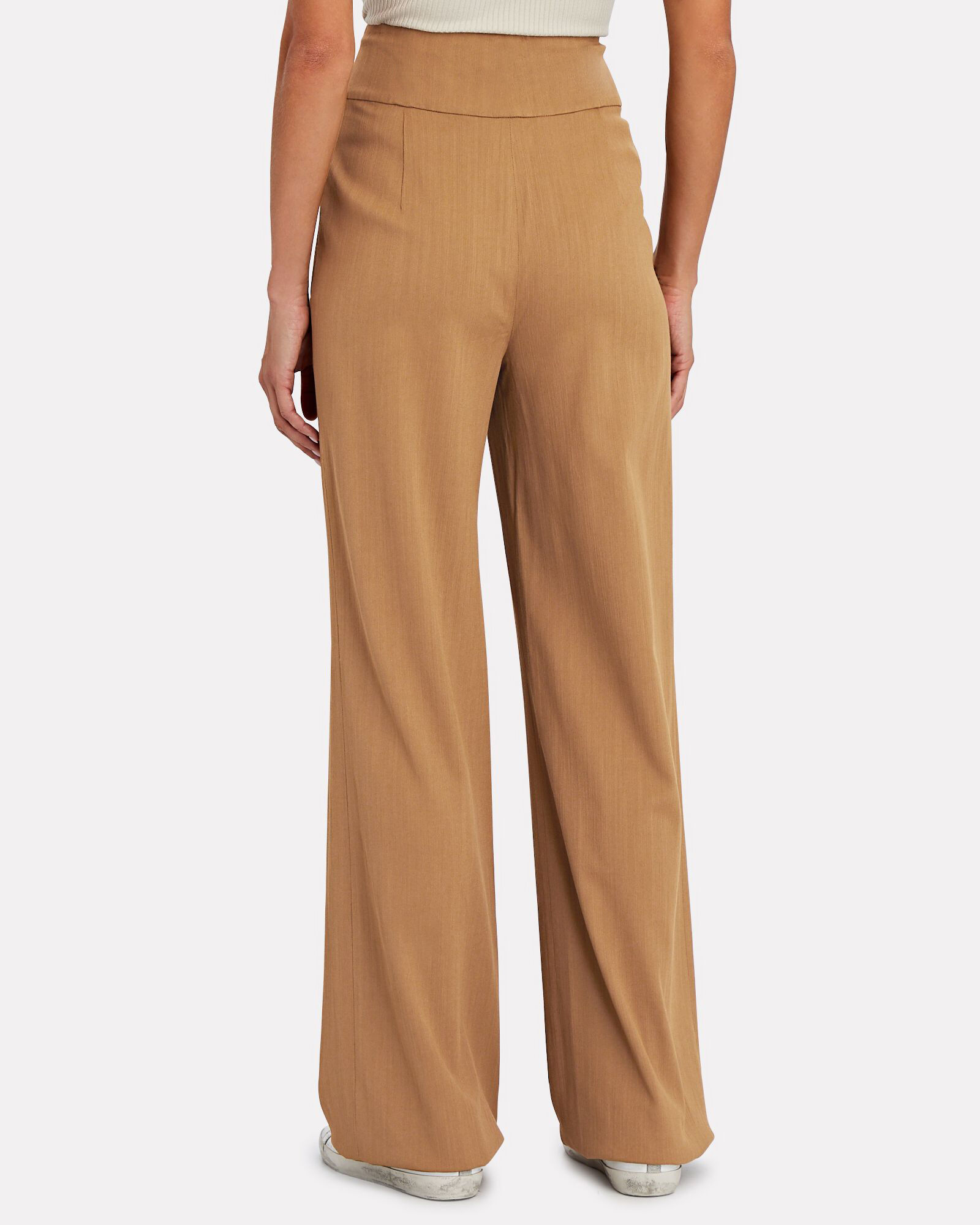 Collin Wide-Leg Trousers, BEIGE, hi-res