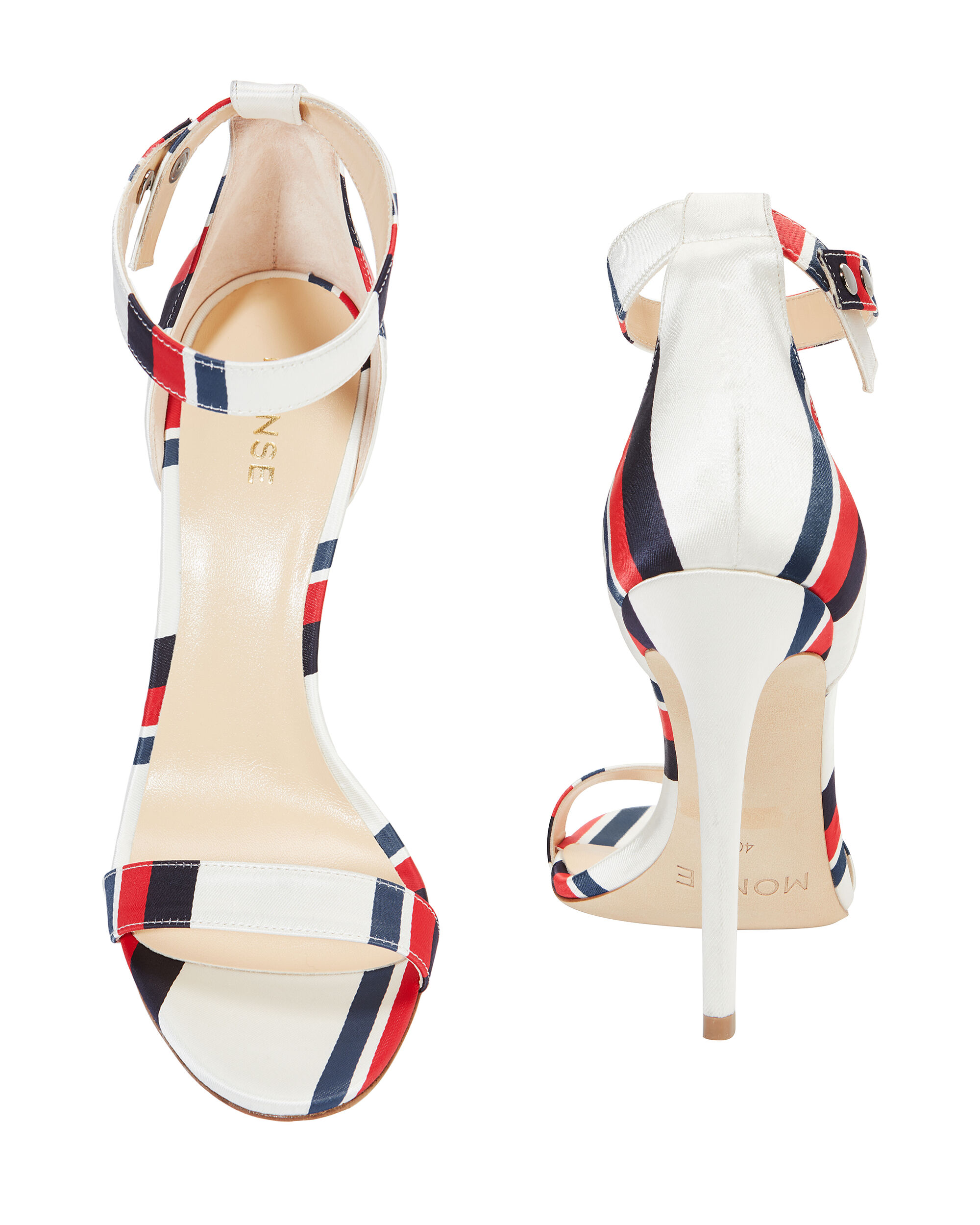 Multi Stripe Ankle Strap Sandals, MULTI, hi-res