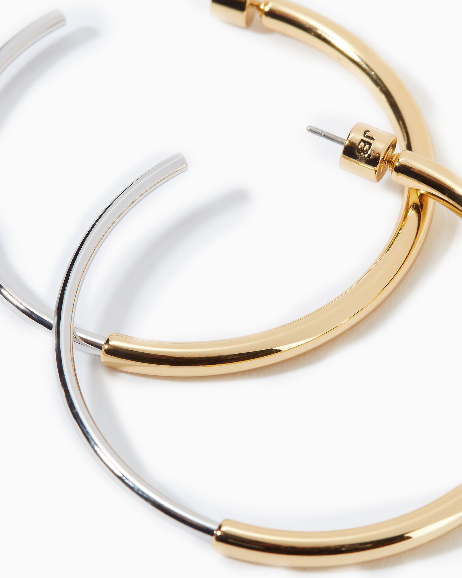 Lola Hoop Earrings, GOLD, hi-res