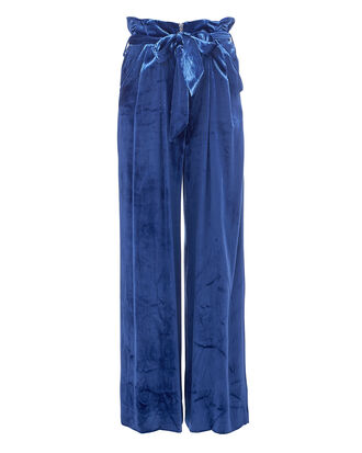 Claudia Velvet Pants, BLUE, hi-res