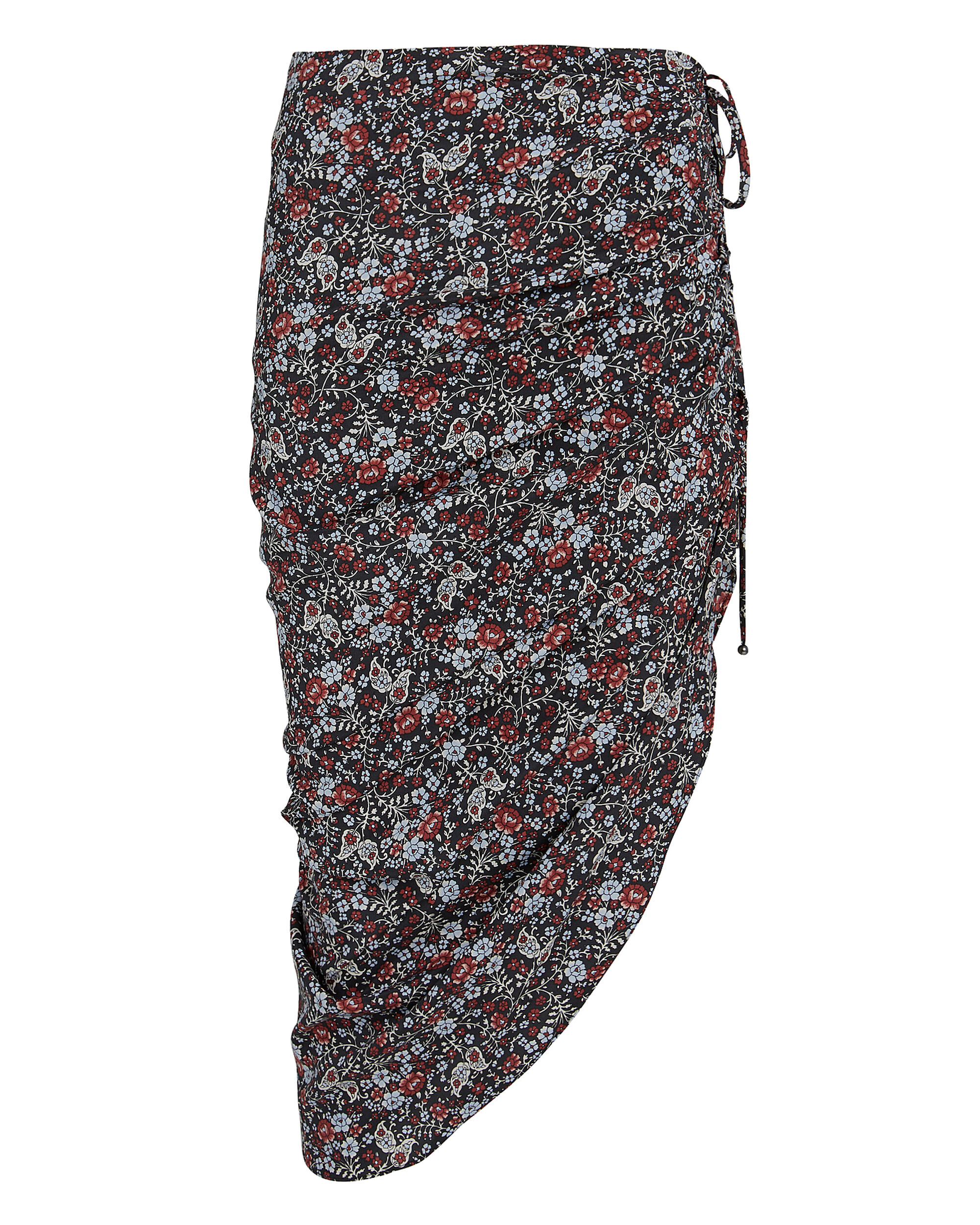 Ari Asymmetric Skirt, BLACK/FLORAL, hi-res
