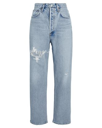 90s Crop Distressed Jeans, ECHO, hi-res