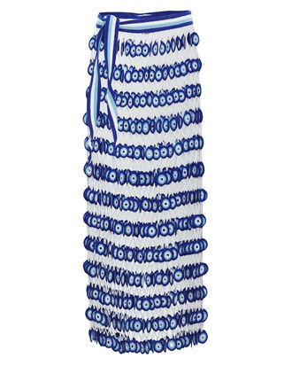 Athena Crochet Maxi Skirt, BLUE/WHITE, hi-res