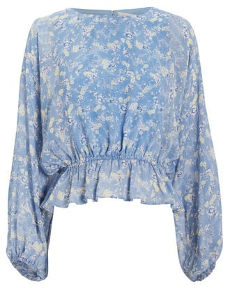 Nellie Bluejay Silk Top, MULTI, hi-res