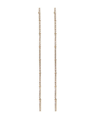 Long Bar Drop Earrings, GOLD, hi-res