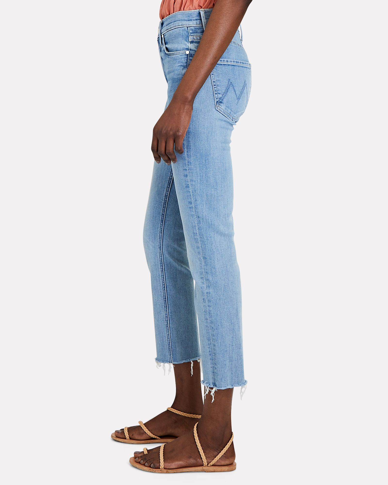 The Dazzler Crop Fray Jeans, BLOWING KISSES, hi-res