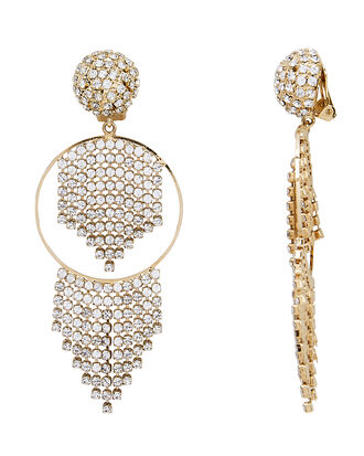 Strobo Crystal Earrings, GOLD, hi-res