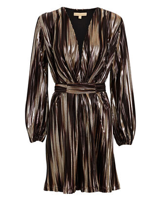 Banks Metallic Stripe Mini Dress, BLACK/COPPER STRIPE, hi-res