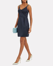 Navy Tuck Mini Dress, NAVY, hi-res