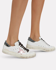 May Pink Star Low-Top Sneakers, WHITE, hi-res