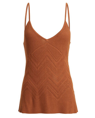 Hayek Knit Camisole, RED-DRK, hi-res