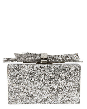 Wolf Shard Silver Confetti Clutch, METALLIC, hi-res
