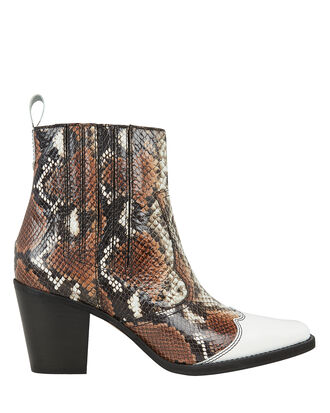 Lovina Western Boots, BROWN/WHITE, hi-res