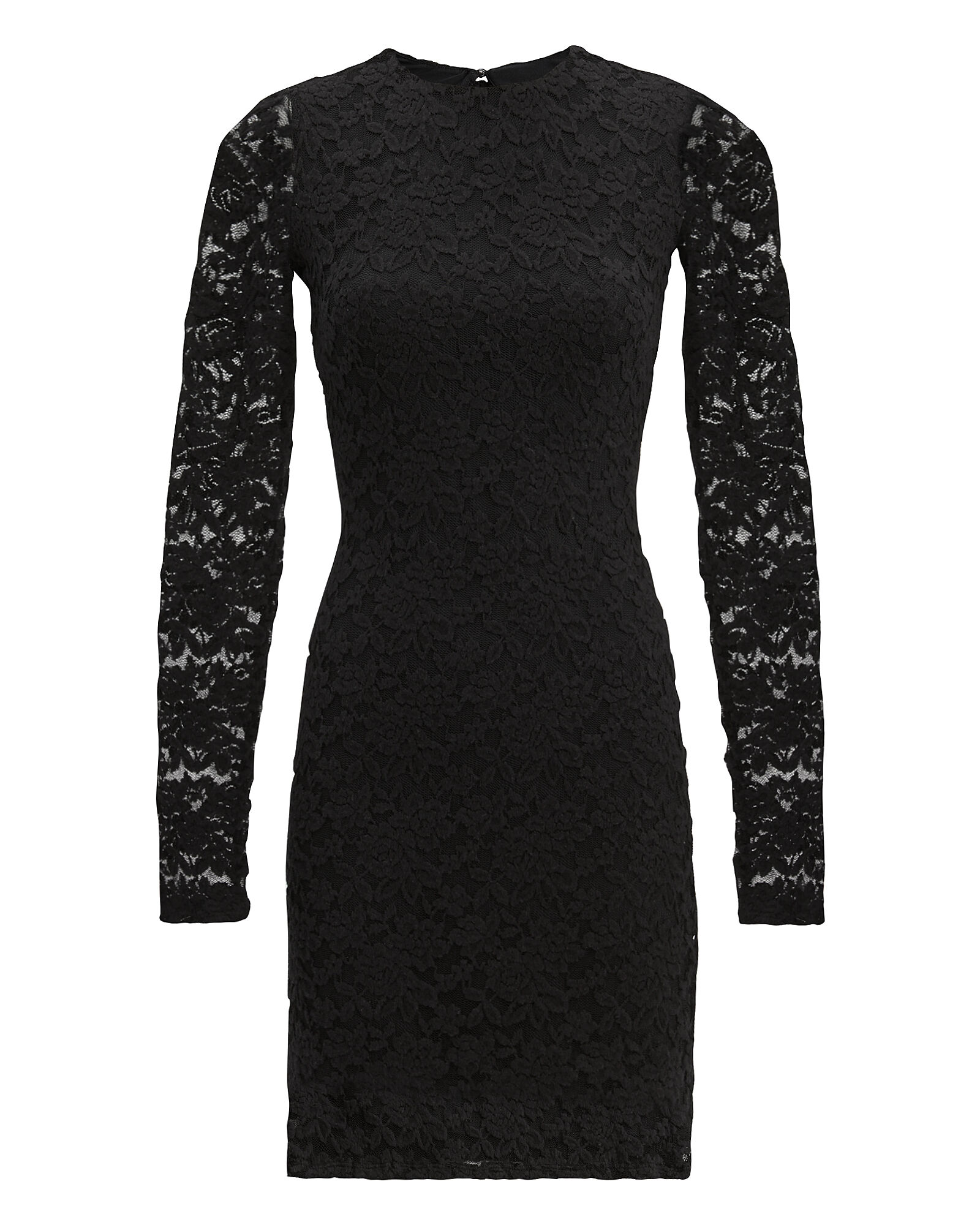 Lace Mini Dress, BLACK, hi-res