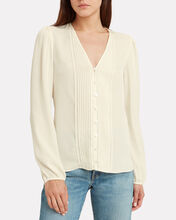 Lorenzo Button Front Blouse, IVORY, hi-res