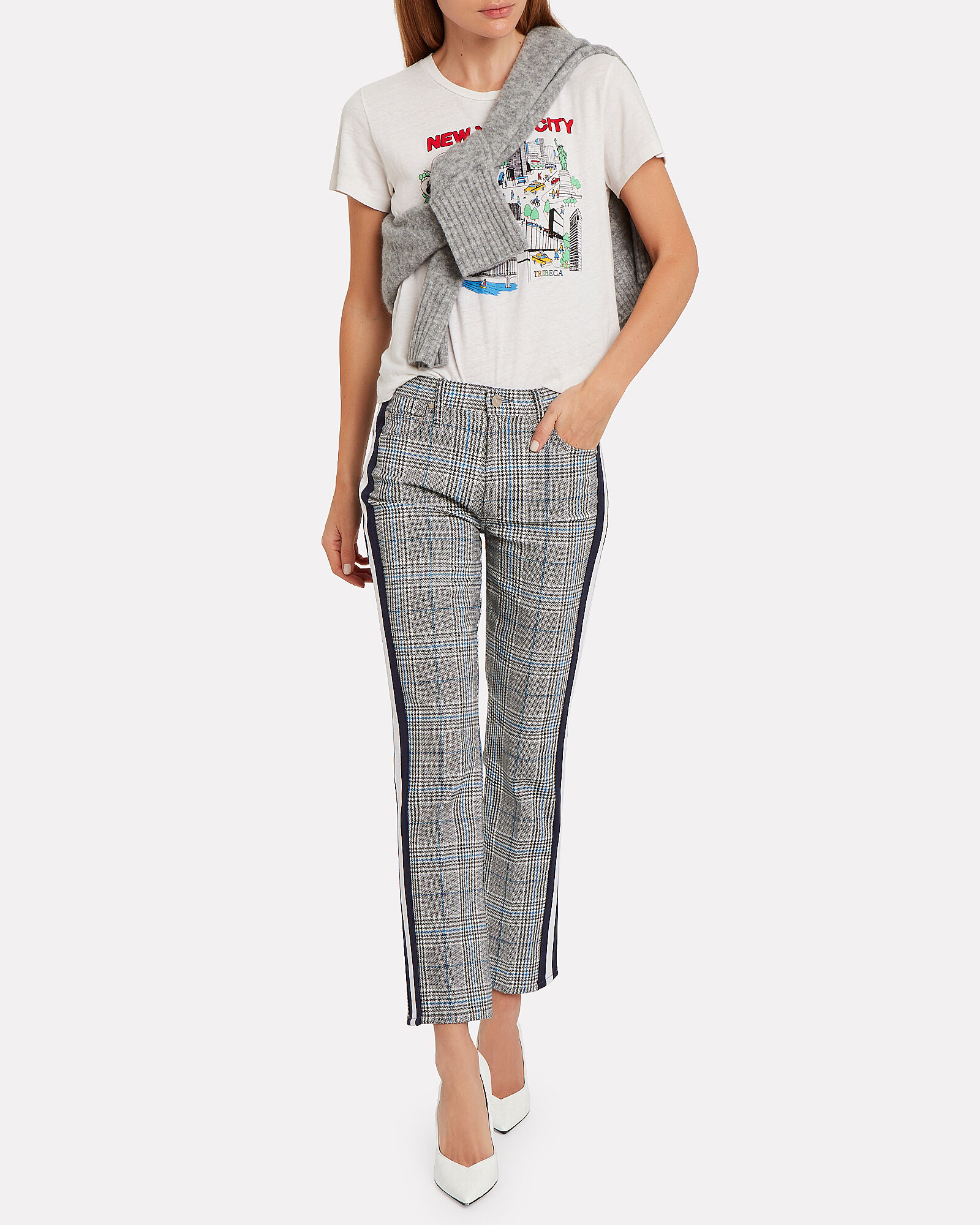 The Insider Plaid Ankle Jeans, MULTI, hi-res