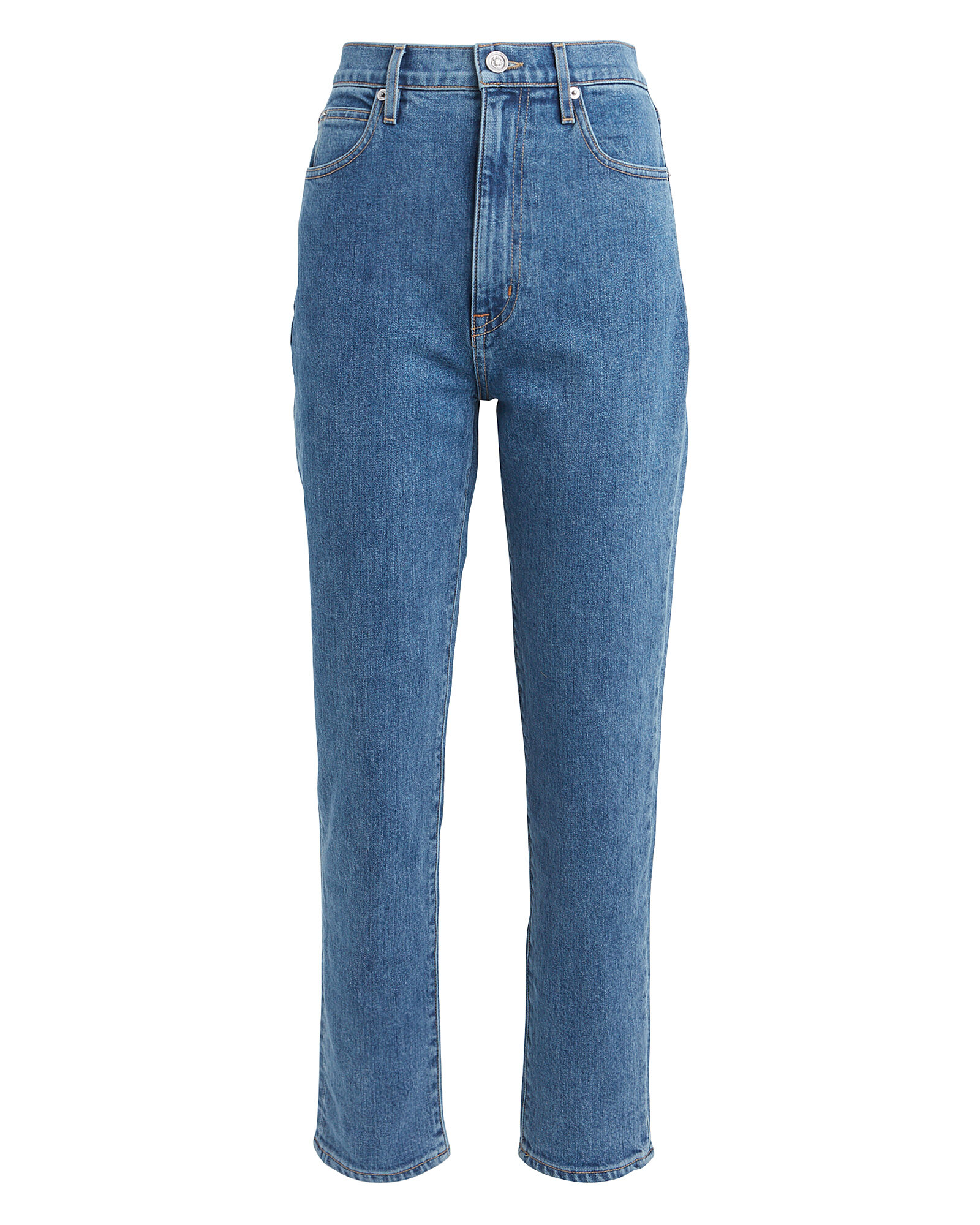 Beatnik Slim High-Rise Jeans, MID-BLUE DENIM, hi-res