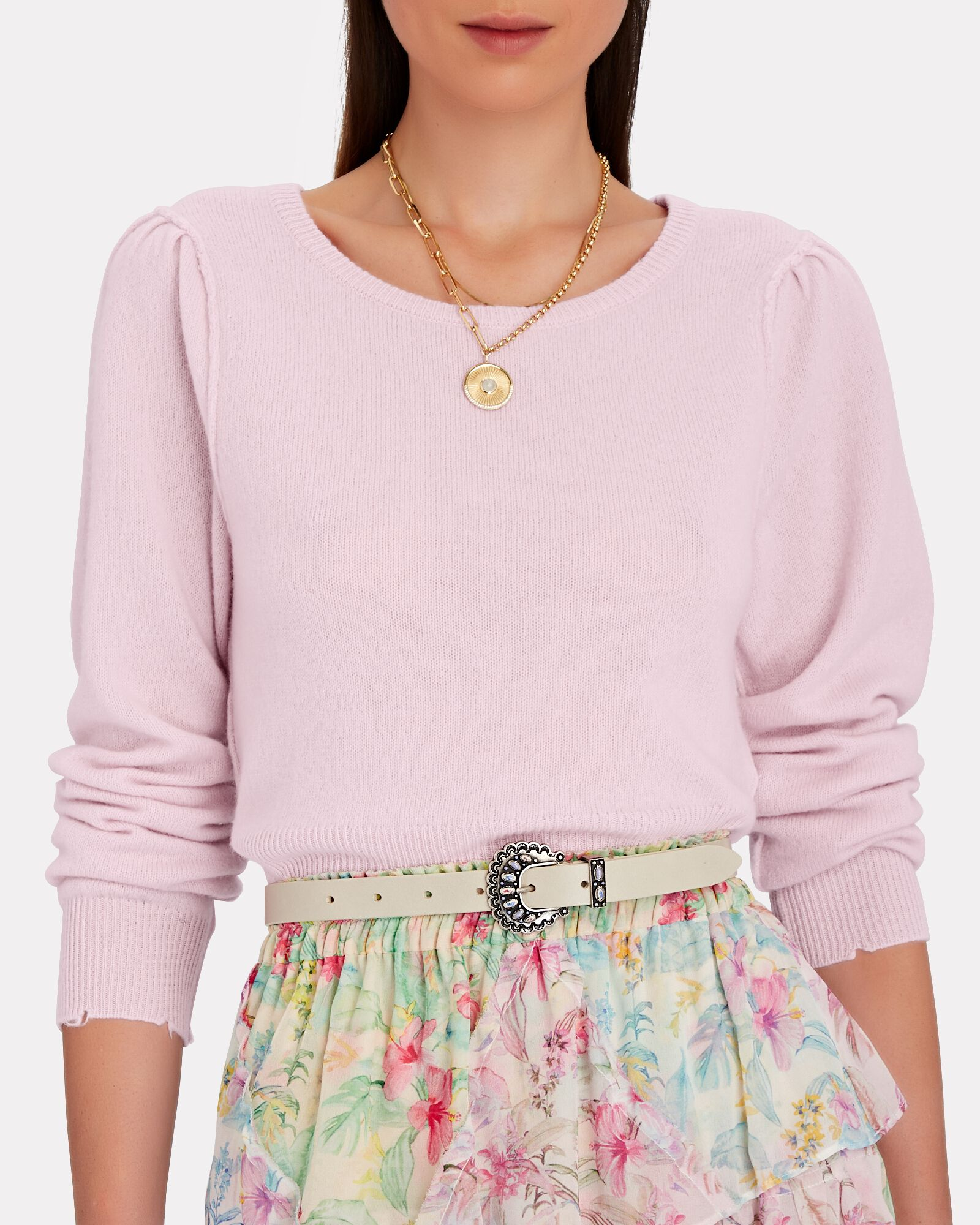 Lune Wool-Cashmere Sweater, PINK, hi-res