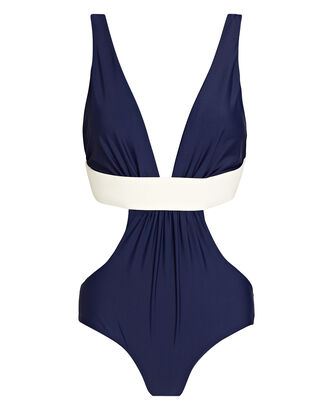 Navy Provenance One-Piece Swimsuit, NAVY, hi-res