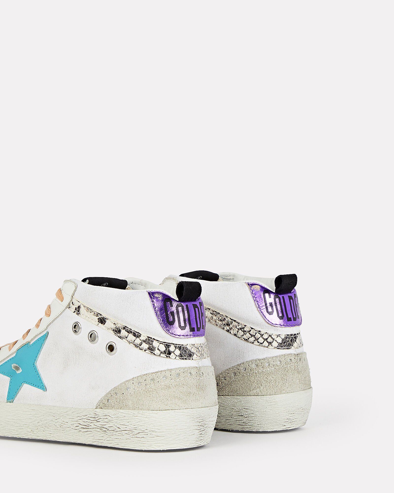 Mid Star Leather Sneakers, WHITE, hi-res