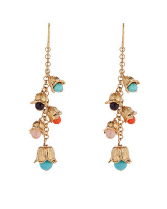 Lily of the Valley Beaded Drop Earrings, GOLD/RAINBOW, hi-res