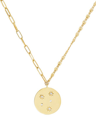 Lara Starburst Pendant Necklace, GOLD, hi-res