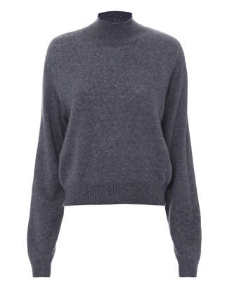 Cashmere Cropped Sweater, BLUE-DRK, hi-res