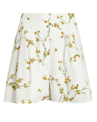 High-Rise Floral Shorts, WHITE/YELLOW FLORAL, hi-res