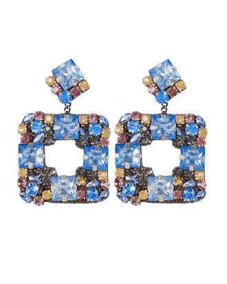 Deepa by Deepa Gurnani Jazlyn Earrings, BLUE GRADIENT, hi-res
