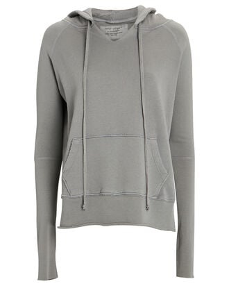 Janie Hooded Cotton Sweatshirt, GREY, hi-res
