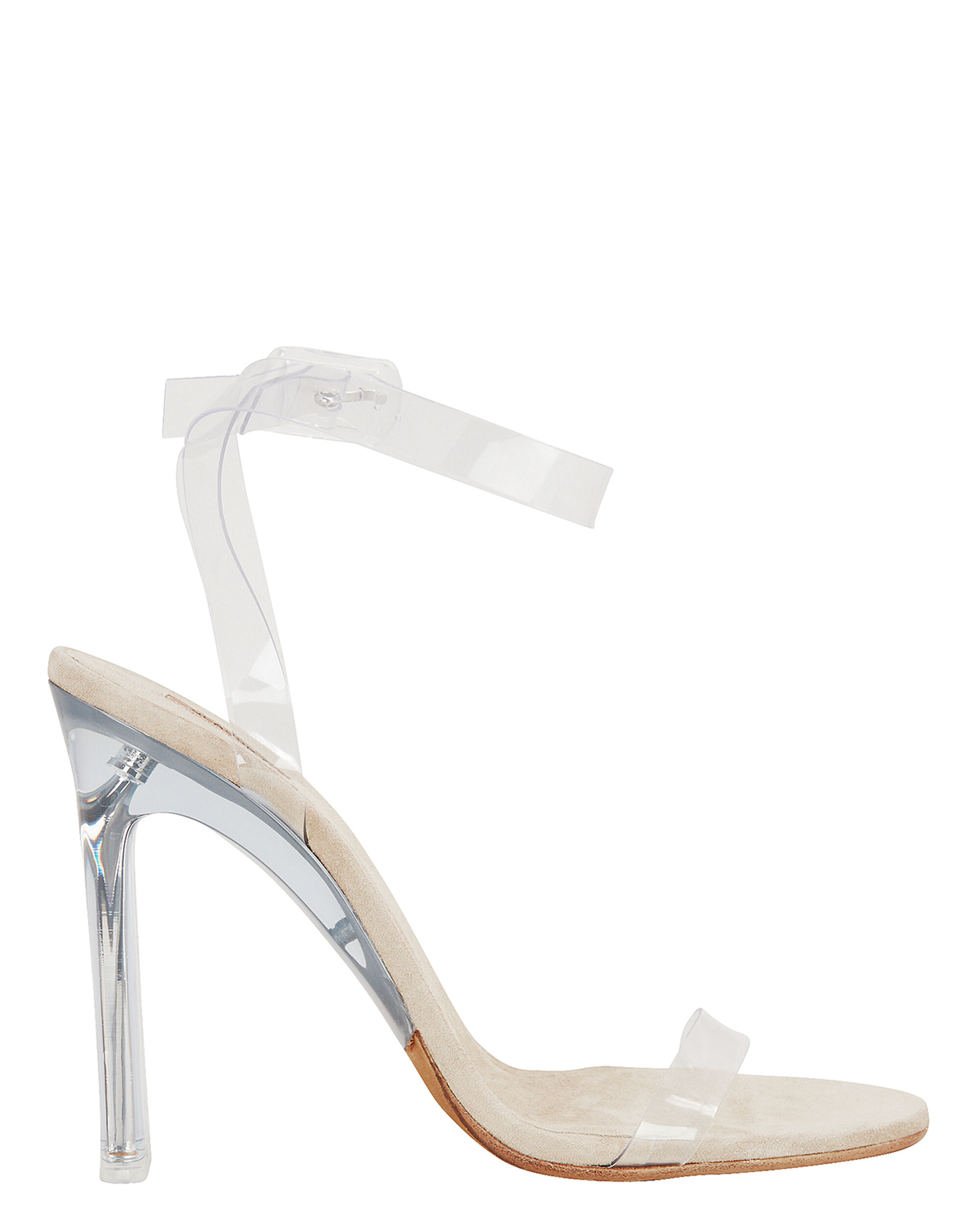 CLEAR PVC ANKLE STRAP SANDALS CLEAR