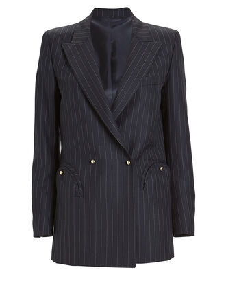 J-Class Everyday Pinstripe Blazer, NAVY/WHITE, hi-res