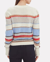 Meredith Striped Crew Sweater, IVORY/BLUE/RED STRIPE, hi-res