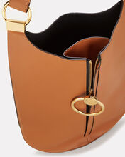 Earring Oval Shoulder Bag, BROWN, hi-res