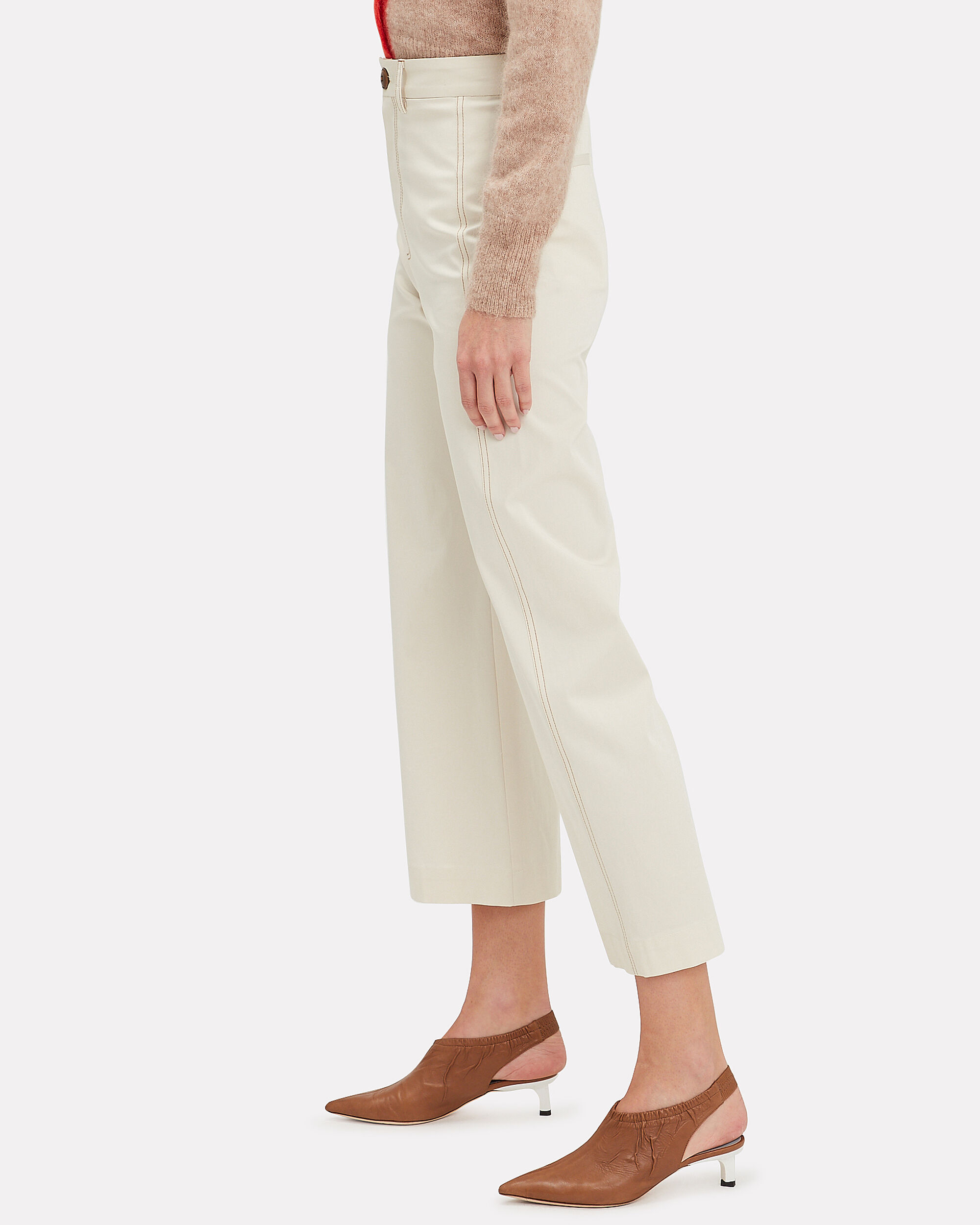 Stella Stretch Suiting Pants, IVORY, hi-res
