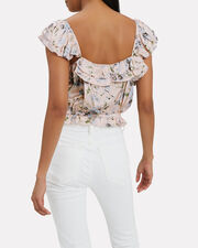 Mia Floral Cropped Top, PINK, hi-res